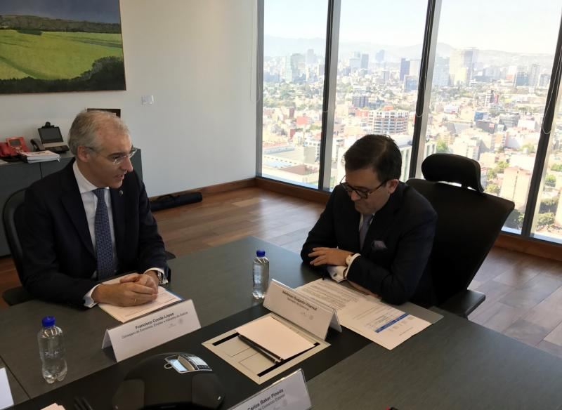 O conselleiro de Economía, Emprego e Industria, Francisco Conde, mantivo un encontro co ministro de Economía do Goberno de México, Ildefonso Guajardo