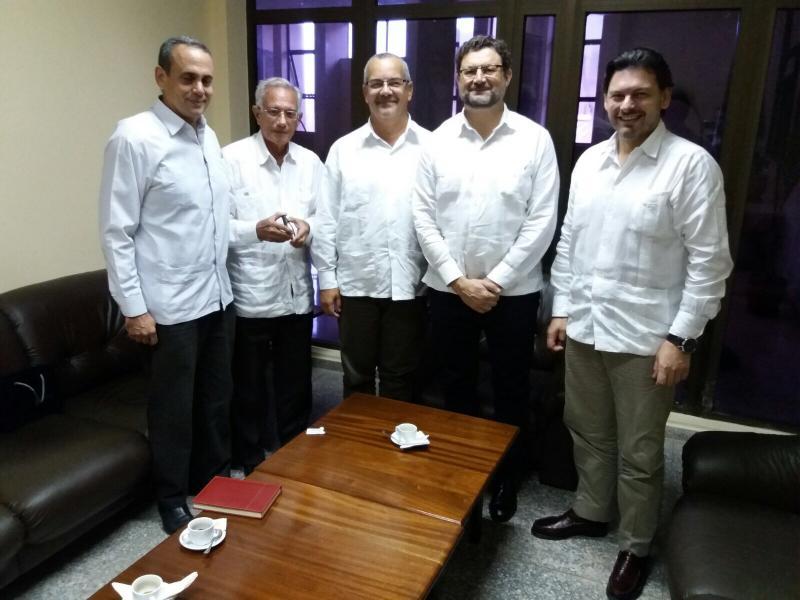 En la imagen (de izquierda a derecha): Miguel Moré, Claudio Ramos, Alejandro Simancas, Juan José Buitrago de Benito y Antonio Rguez. Miranda
