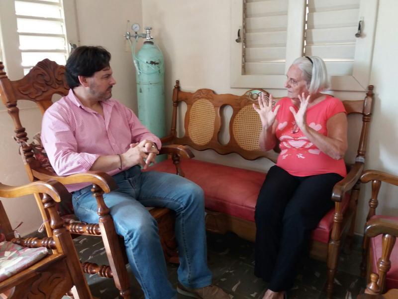 O secretario xeral da Emigración reuniuse coa coordinadora da zona, Higinia Balea, para recibir información sobre a situación das galegas e os galegos na rexión