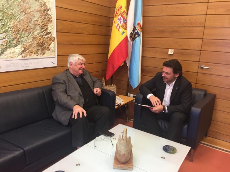 Novoa y Miranda, durante la reunión celebrada en Santiago de Compostela