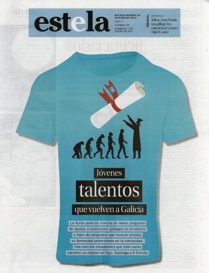 Portada do suplemento 'Estela' do xornal Faro de Vigo