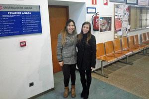 Diana Benítez Carballeira e Ana Carolina Hauradou Carreiro. Foto: España Exterior