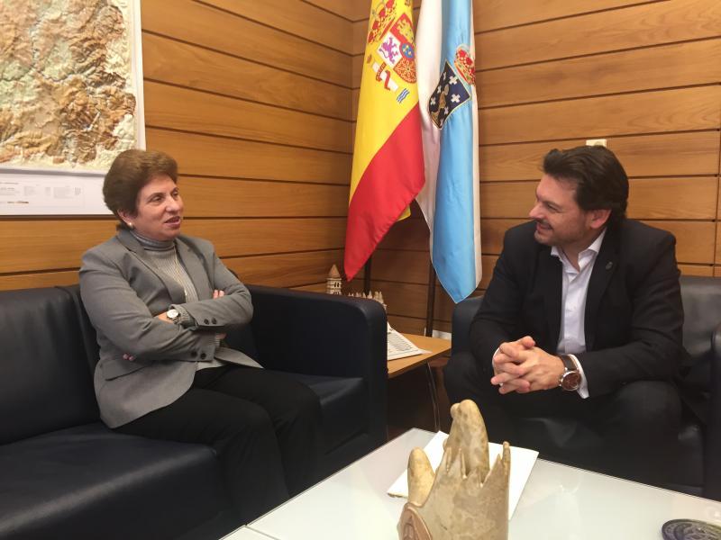 Jallas e Miranda, durante o encontro no despacho do secretario xeral da Emigración