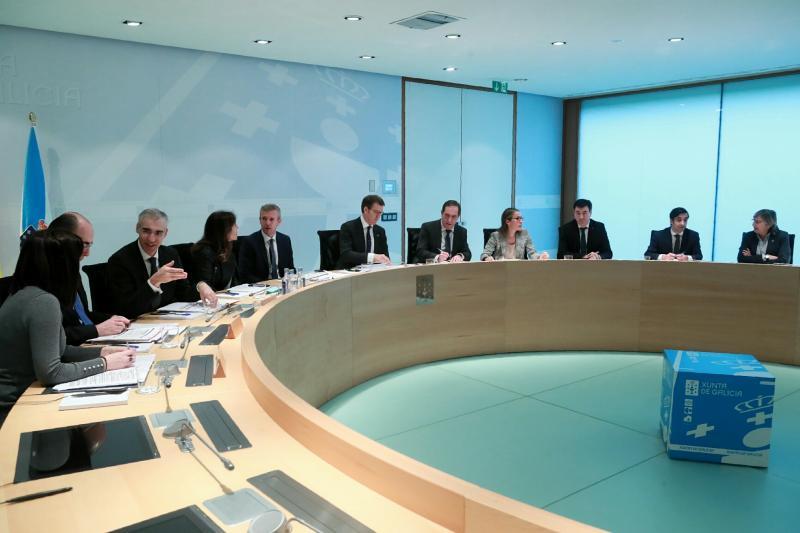 Imaxe do Consello da Xunta celebrado esta mañá en San Caetano (Santiago de Compostela)