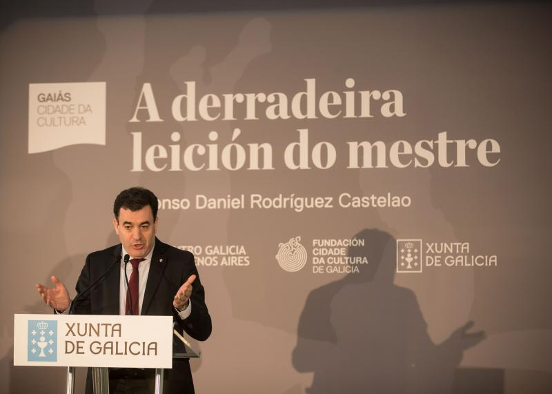 """O conselleiro de Cultura presenta a viaxe desta obra como """"un recoñecemento a Castelao"""" e """"unha homenaxe á Galicia da diáspora"""""""