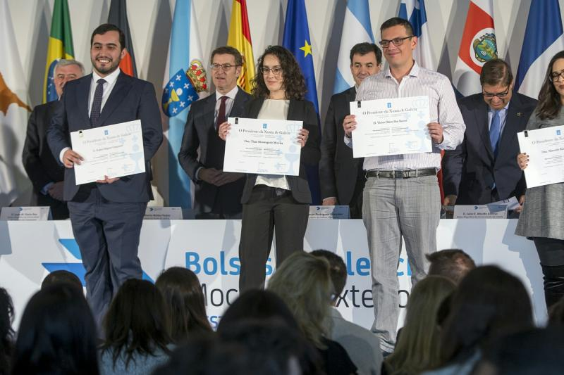 O titular do Goberno galego presidiu esta mañá o acto de entrega dos diplomas das Bolsas Excelencia Mocidade Exterior