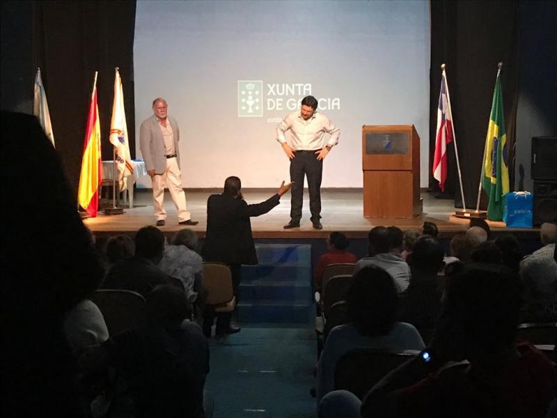 Miranda na charla de presentación das Bolsas Excelencia Mocidade Exterior - BEME en Salvador de Baía, á que asistiron preto de 160 mozos e mozas