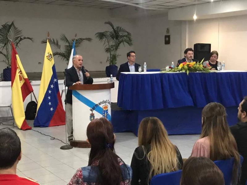 Miranda anuncia un incremento de case o 300% nas axudas individuais para galegos de Venezuela, que en 2018 disporán de 900.000 euros