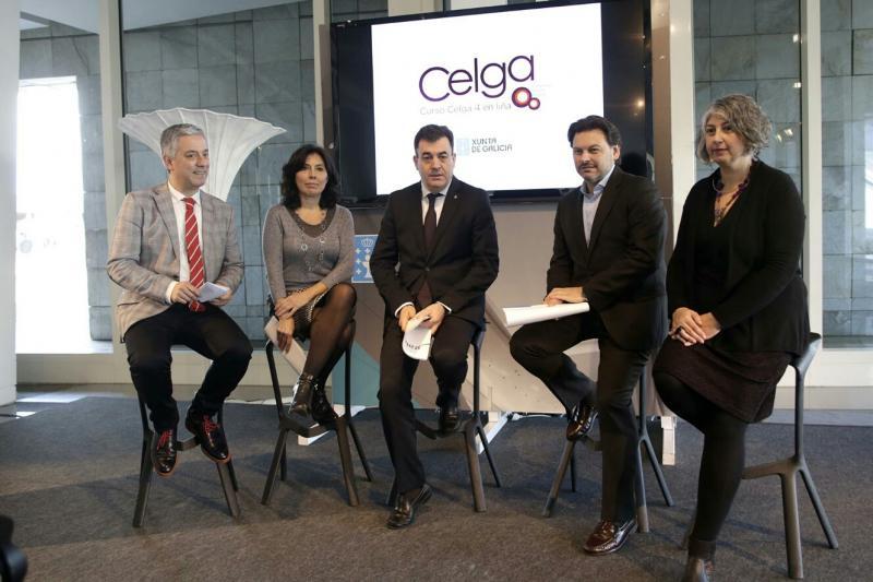 O conselleiro de Cultura e Educación presentou a nova plataforma de teleformación, que fai extensiva esta formación en lingua galega tanto á Galicia territorial como á exterior