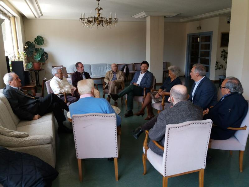 O secretario xeral da Emigración visitou o Centro Galego de Salamanca, que este ano acollerá o Día de Galicia en Castela e León