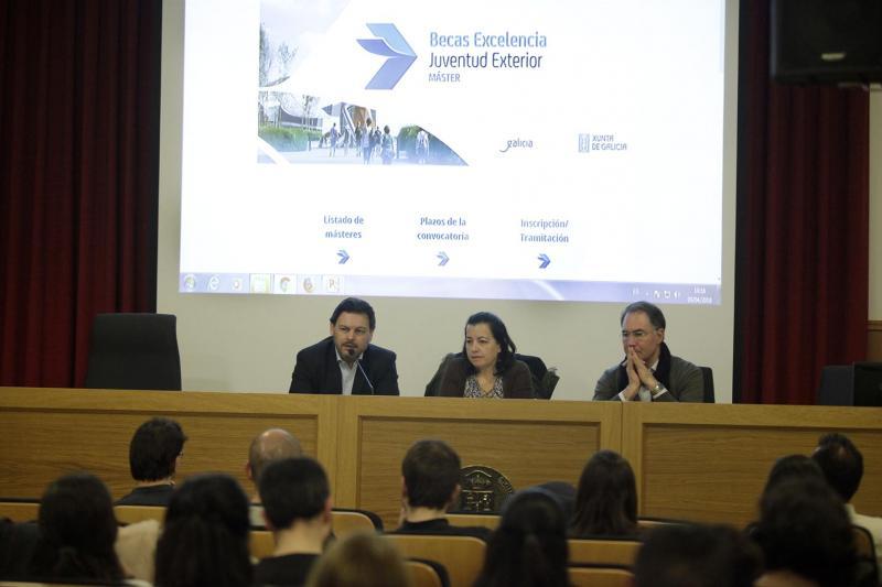 O Salón de actos da Facultade de Filosofía da USC acolleu a primeira destas xornadas, que tamén se celebrarán nas universidades de Vigo e A Coruña
