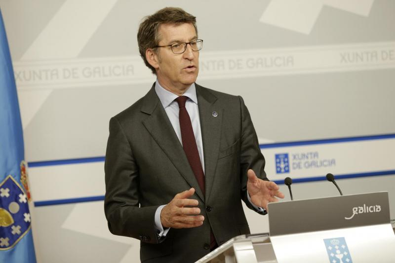 O presidente da Xunta na rolda de prensa posterior ao Consello