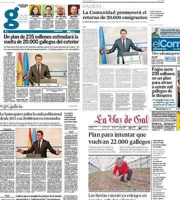 A Estratexia Retorna 2020 chega á portada dos medios galegos