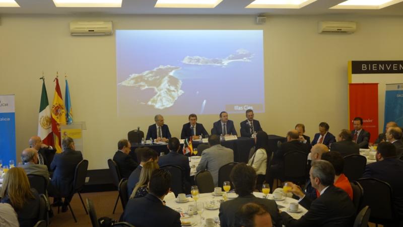 O presidente da Xunta comezou o seu segundo día en México participando no foro Oportunidades de Investimento en Galicia