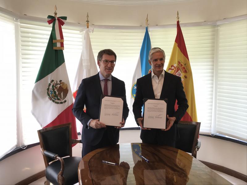 O presidente da Xunta reuniuse esta tarde co gobernador do Estado de México, Alfredo del Mazo Maza