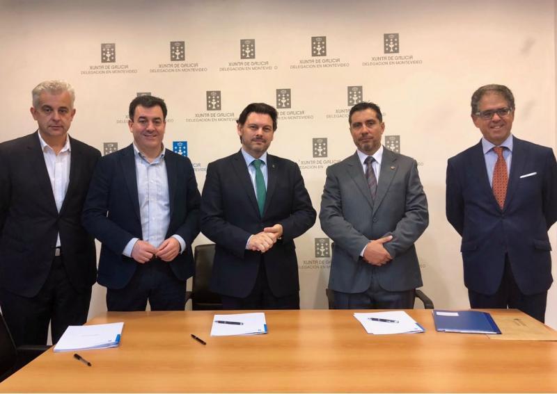 Á sinatura dos convenios tamén asistiron o conselleiro de Cultura, Educación e Ordenación Universitaria e o delegado da Xunta de Galicia na Arxentina e o Uruguai