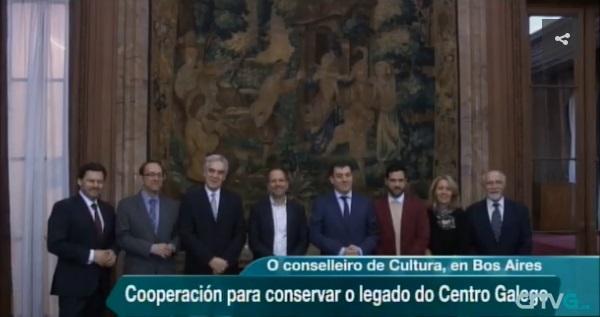 A viaxe institucional á Arxentina e o Uruguai do conselleiro de Cultura, Educación e Ordenación Universitaria e o secretario xeral da Emigración, nos informativos da TVG