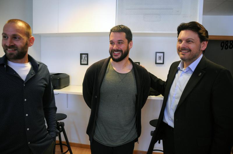 O secretario xeral da Emigración visitou un dos nove empresarios e empresarias da capital ourensá que recibiron unha das Axudas ao Retornado Emprendedor nos derradeiros cinco anos