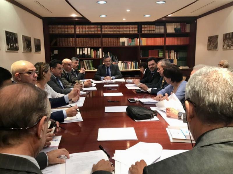 Miranda asistió a la reunión del consejo de administración de la Fundación España  Salud, que atiende casi 1.500 gallegas y gallegos de Venezuela