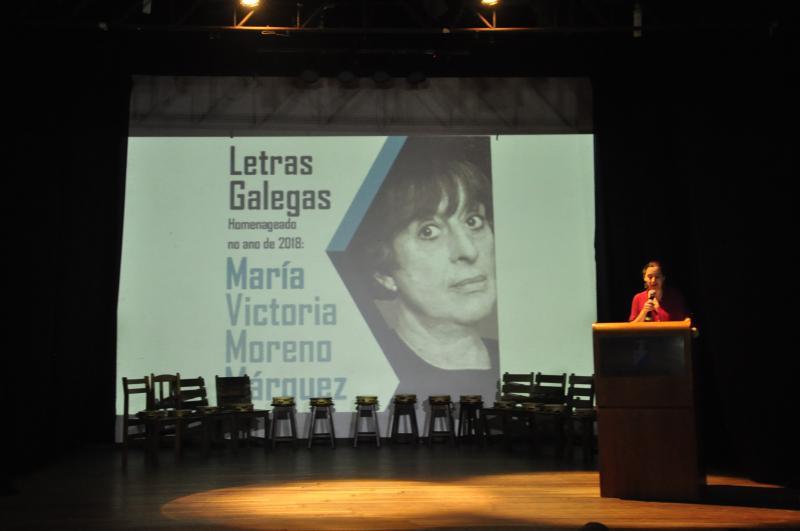 La entidad gallega en la capital bahiana homenajeó a María Victoria Moreno y, también, al empresario José Rosario Rodeiro