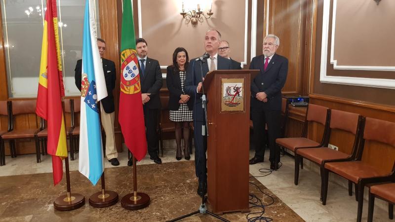 Imagen del acto celebrado esta tarde en la ciudad de las Burgas