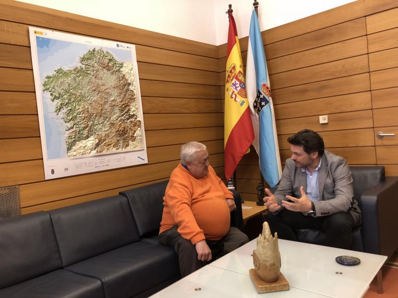 Miranda e Barbosa, no despacho de este en Santiago de Compostela