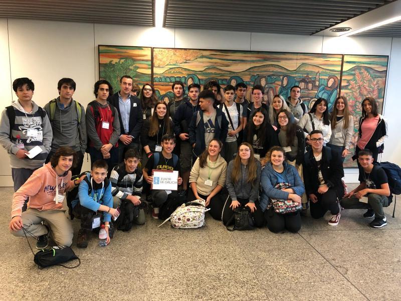Foto da chegada esta mañá ao aeroporto de Santiago de Compostela