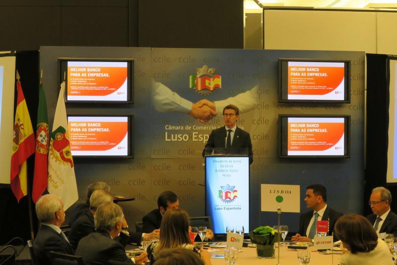 O presidente da Xunta, na Cámara de Comercio Luso Española