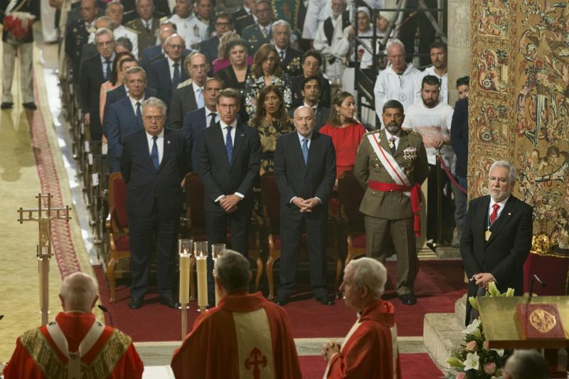 Feijóo asiste ao acto de Ofrenda Nacional ao Apóstolo Santiago