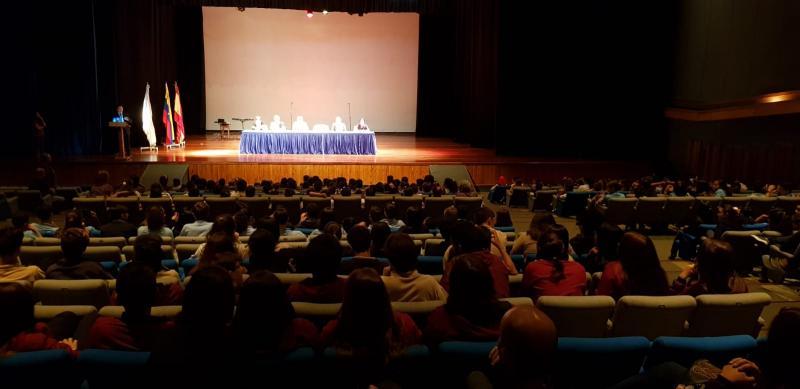 Miranda presidiu o acto de apertura do curso escolar do Colexio Castelao, pertencente á Hermandad Gallega de Venezuela en Caracas