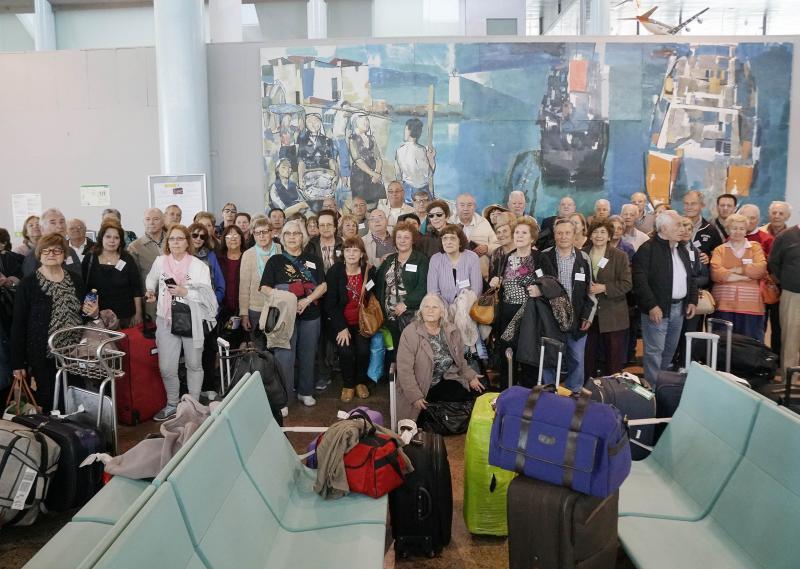 Imaxe da chegada ao aeroporto vigués de Peinador
