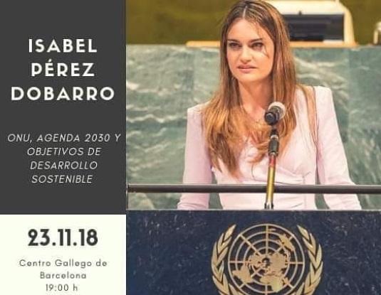 A compostelá Isabel Pérez Dobarro pronunciará unha conferencia sobre Desenvolvemento Sustentable