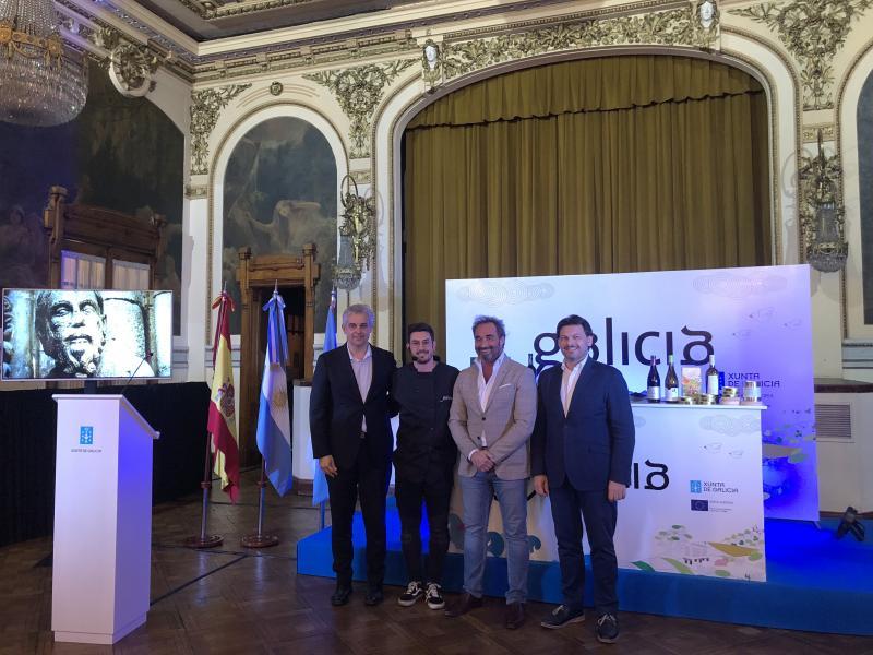 O showcooking que puxo fin a esta segunda edición dos Obradoiros de Sabores da Xunta de Galicia foi organizada en colaboración co Ministerio de Producción y Trabajo da Nación arxentina