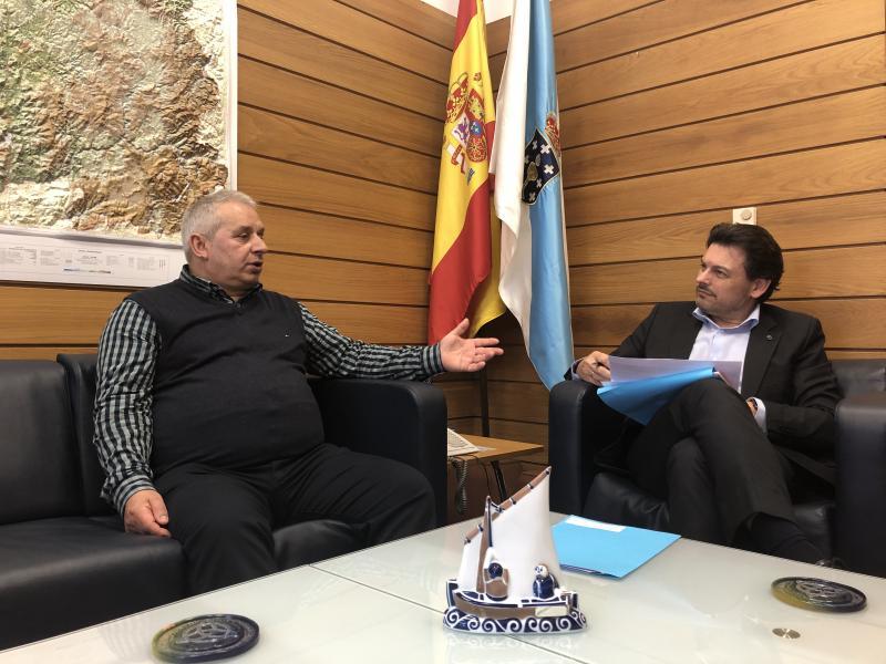 Miranda e Peso, durante a reunión celebrada na sede da Secretaría Xeral da Emigración