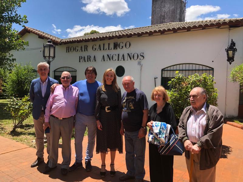 A conselleira de Política Social, Fabiola García, ratificou o compromiso da Xunta de Galicia de garantir a atención residencial das usuarias e usuarios do Hogar Gallego