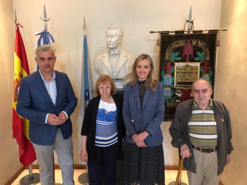 Fabiola García visitou o Centro Galego de Avellaneda, a entidade galega máis antiga da Arxentina e a terceira de toda América