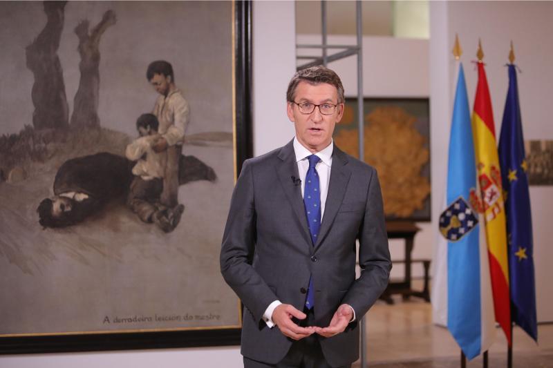 Alberto Núñez Feijóo, presidente da Xunta de Galicia
