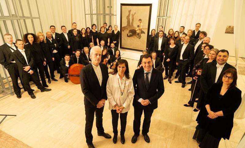 El repertorio del concierto se basó en una selección de temas representativos de los diferentes países que marcaron al vida de Castelao, realizada expresamente por el director titular y artístico de la RFG, Paul Daniel