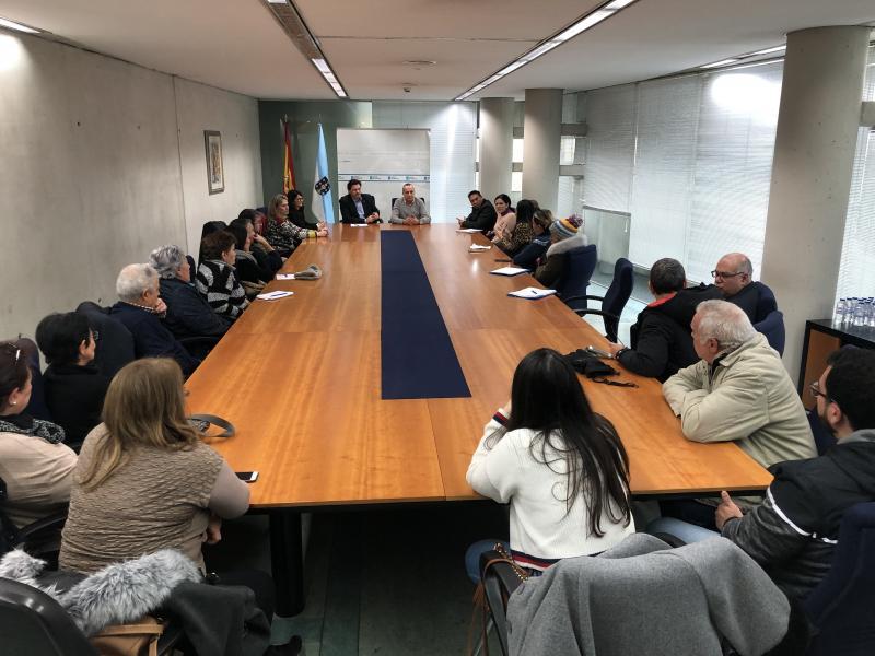 Miranda e Carballo, durante a reunión con membros de VeneLugo