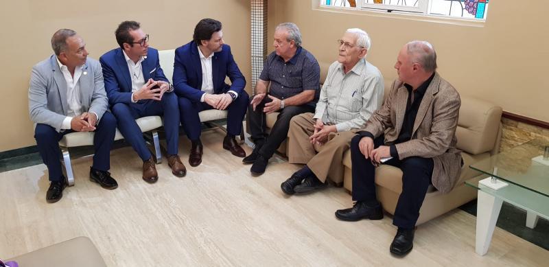 Imagen de la reunión celebrada hoy en la capital venezolana