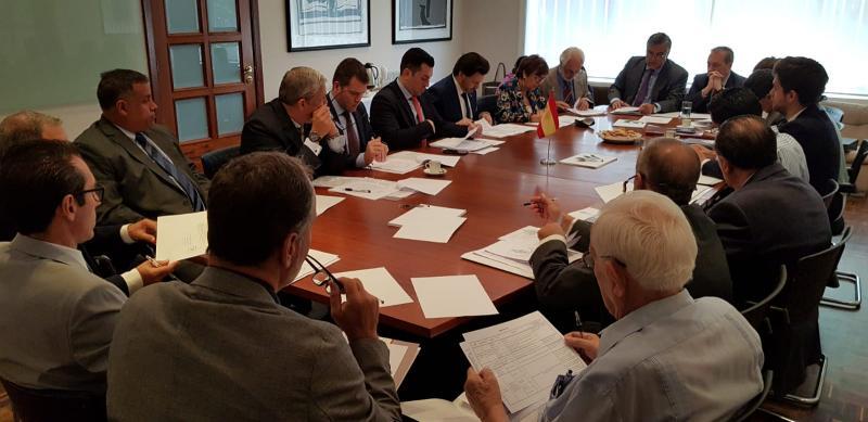 Imaxe da reunión do Padroado da Fundación España Salud (FES) celebrada esta mañá en Caracas