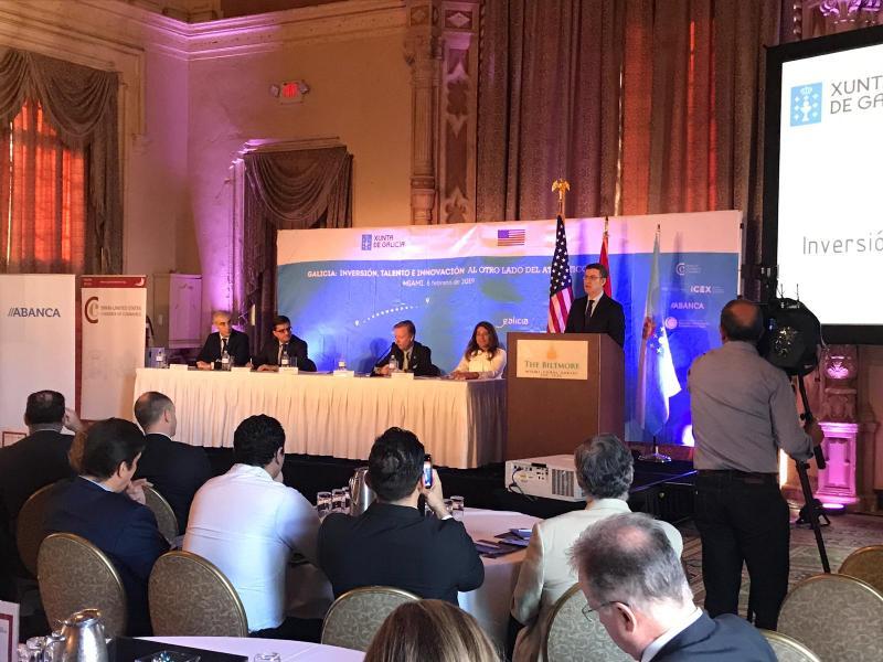 O titular da Xunta presidiu o encontro coa Cámara de Comercio de España en Miami