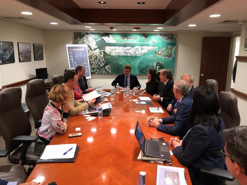 O presidente da Xunta mantivo hoxe unha intensa xornada de traballo marcada pola visita ao Porto de Miami e polo encontro con empresas relacionadas co contract