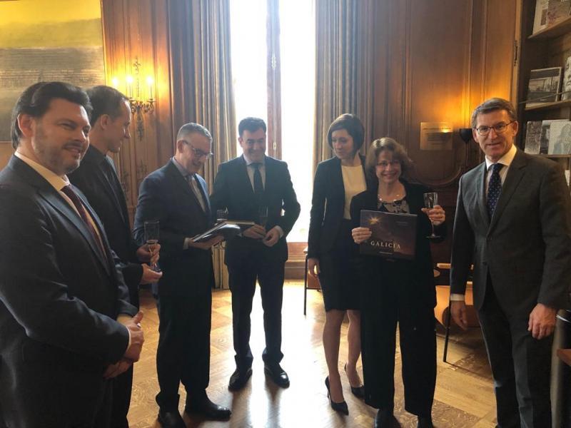 O presidente do Goberno galego trasladou o agradecemento ao IFA polo seu compromiso coa ruta xacobea e coa súa proxección internacional