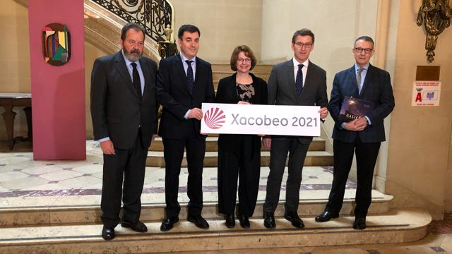 El presidente del Gobierno gallego trasladó el agradecimiento al IFA por su compromiso con la ruta jacobea y con su proyección internacional