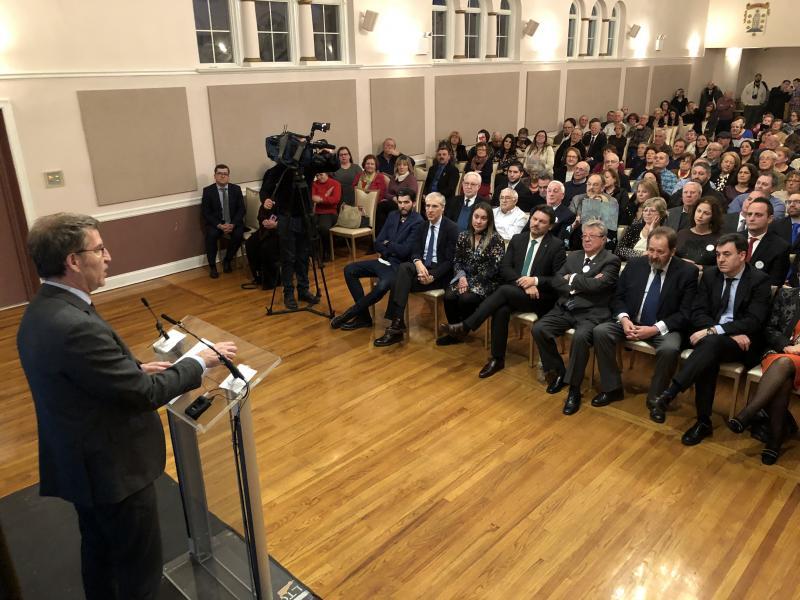 Imaxe do encontro do presidente da Xunta de Galicia coa colectividade galega na Casa Galicia de Nova York
