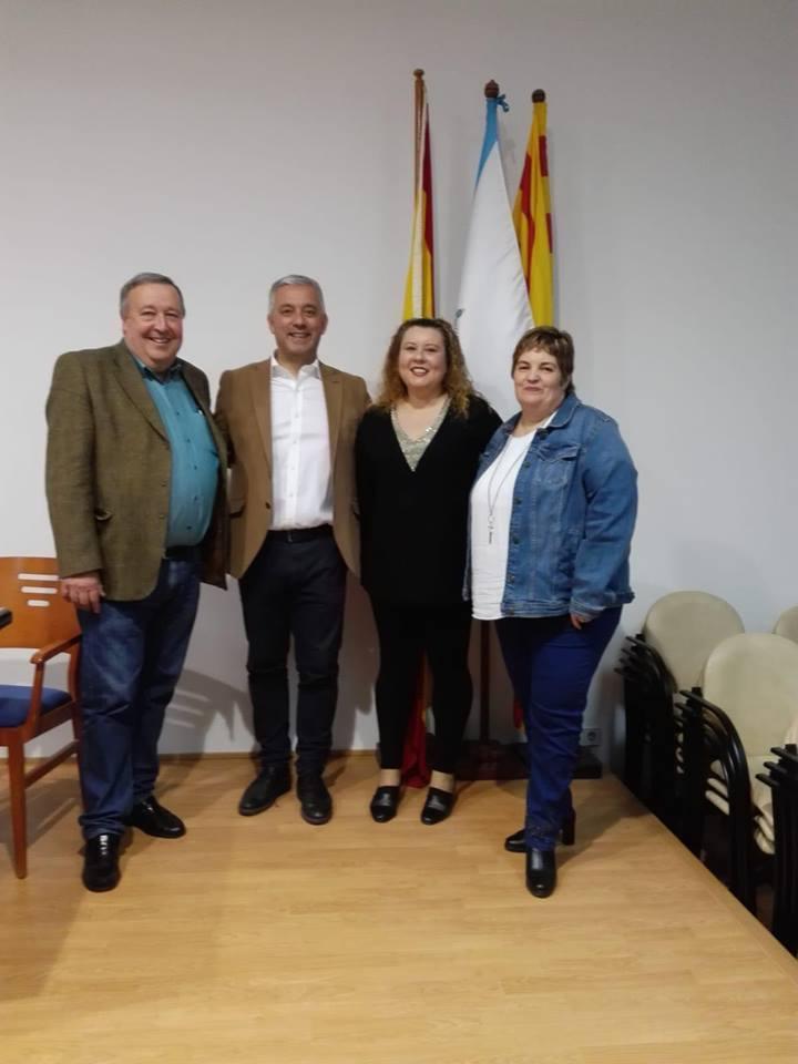 El secretario xeral de Política Lingüística acudió a la Ciudad Condal invitado por la Agrupación Cultural GalegaSaudade
