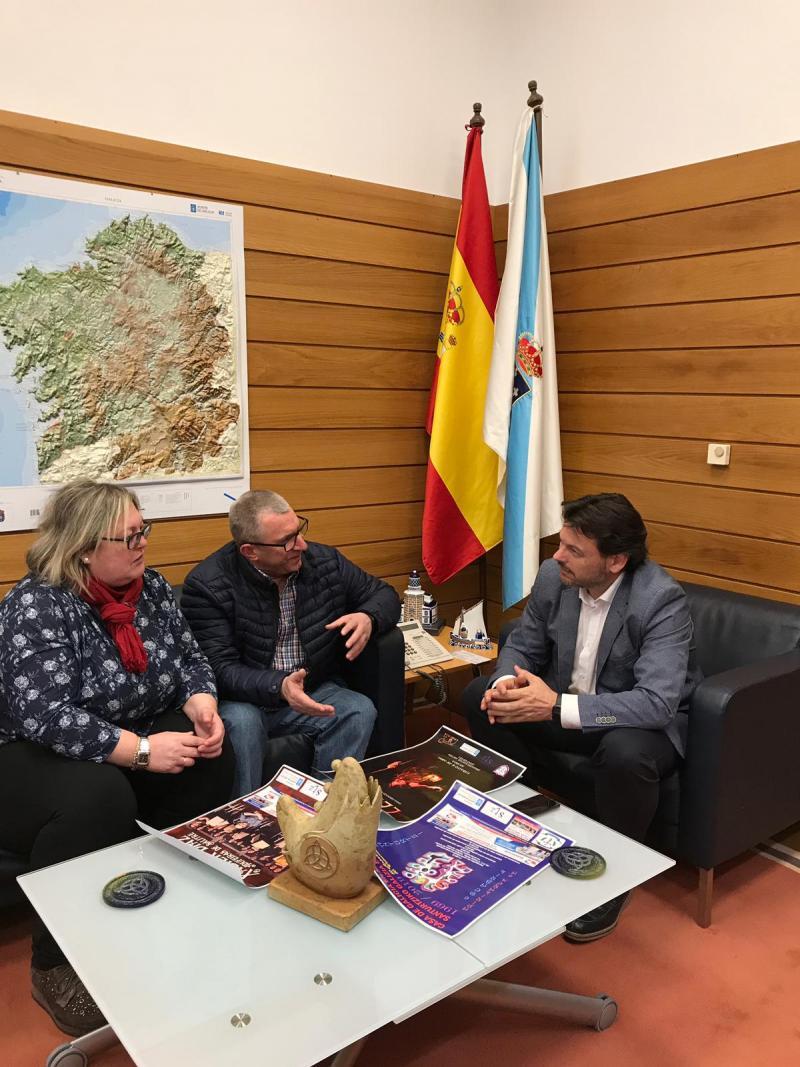 Imaxe da reunión celebrada na sede da Secretaría Xeral da Emigración na capital de Galicia
