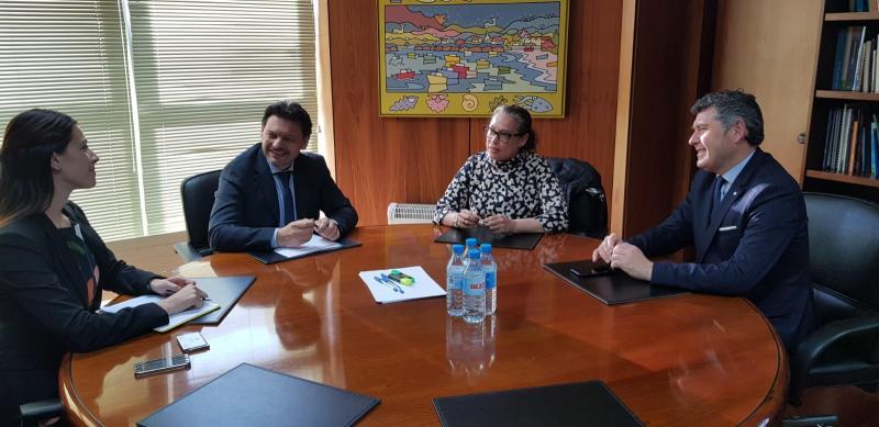 Imagen de la reunión celebrada esta mañana en A Coruña