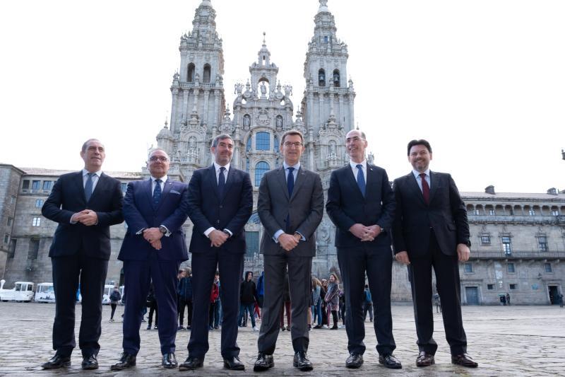 O titular da Xunta recibiu esta mañá ao presidente do Goberno de Canarias, Fernando Clavijo Batlle